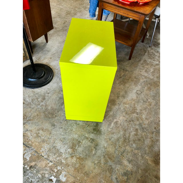 2010s Modern Neon Green Rolling C Table For Sale - Image 5 of 9