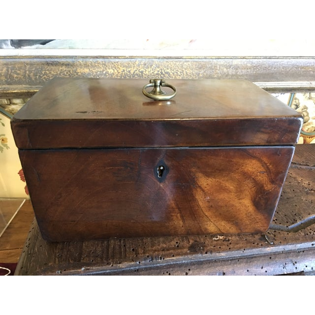 1800 English Regency Flamed Mahogany Double Tea Caddy For Sale - Image 11 of 12