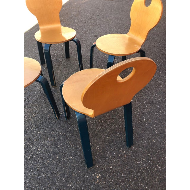 Two Tone Dining Chairs by Thonet- Set of 4 For Sale - Image 4 of 13