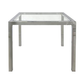 1970s Chrome-Finish Table Attributed to Milo Baughman For Sale