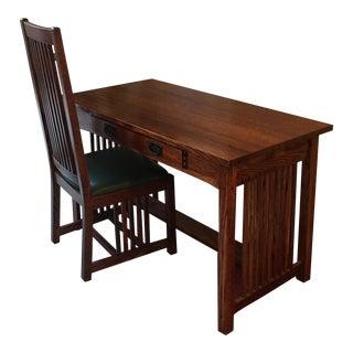 Restoration Hardware Mission Desk & Chair For Sale