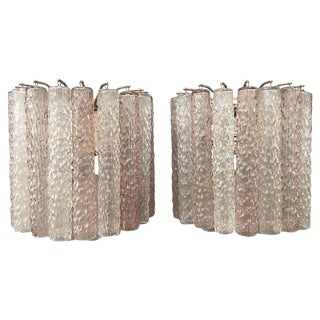Pair of Murano Glass Sconces by Venini