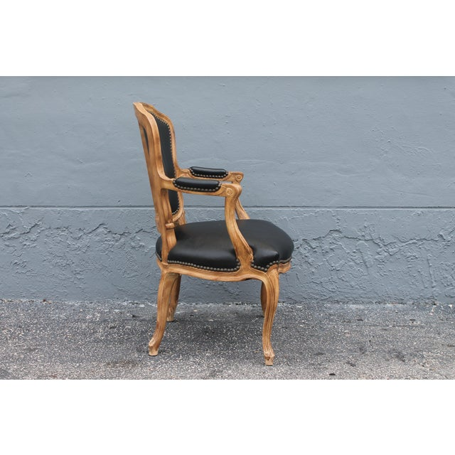 Textile 1960s Vintage Louis XV Style Carved Walnut Armchair For Sale - Image 7 of 9