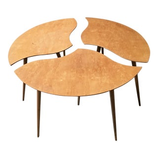 "Swedish Segmented ""Toothpick"" Tables - Set of 3 For Sale"