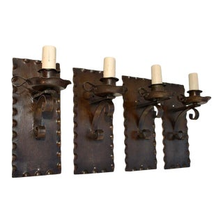 1920s Rustic Sconces - Set of 4 For Sale