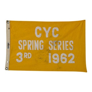 Vintage 1962 Cleveland Yacht Club Trophy Flag For Sale