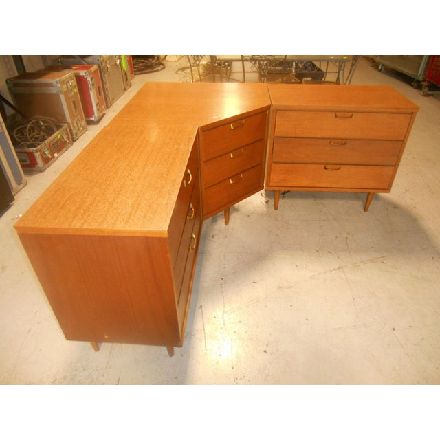 Mid-Century Danish Modern Corner Dresser Set - 3 For Sale - Image 5 of 7