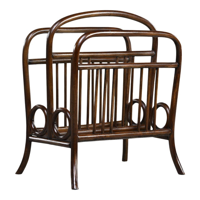 Early Thonet Bentwood Magazine Rack For Sale