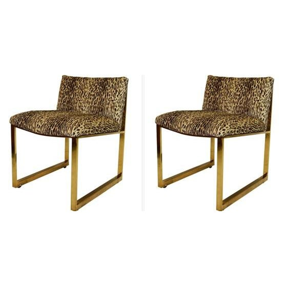 1980s Milo Baughman Slipper Chairs - A Pair For Sale - Image 5 of 5
