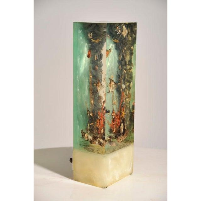 """Italian Lucite Lighted """"Under-the-Sea"""" Aquarium Sculpture - Image 4 of 7"""