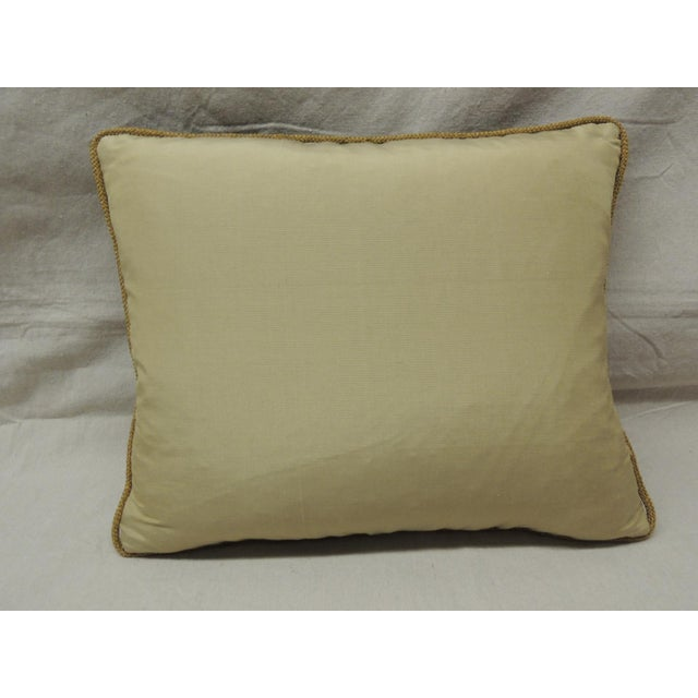 19th Century Fleur De Lis Embroidery Tapestry Decorative Pillow For Sale - Image 4 of 5