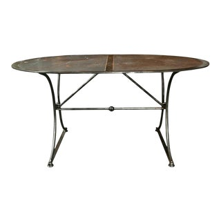 Steel Industrial Dining Table For Sale