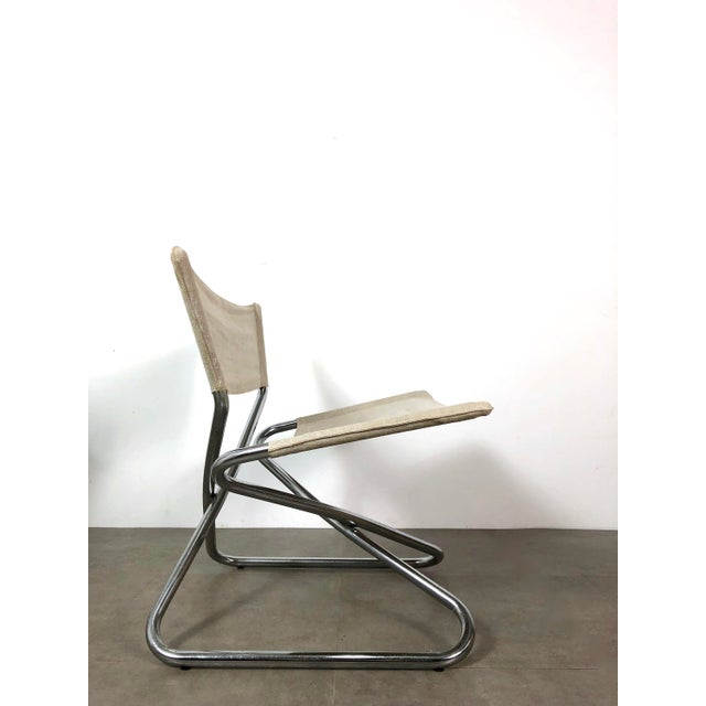 Torben Orskov 1960s Erik Magnussen Chrome Sling Z Down Chairs - a Pair For Sale - Image 4 of 8