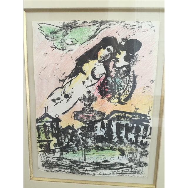 Marc Chagall Lovers in Heaven Print - Image 3 of 4