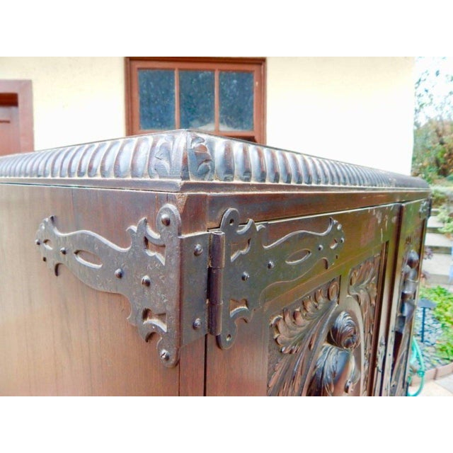 1920s 1920s Spanish Colonial Heraldic Theme Storage Cabinet For Sale - Image 5 of 11