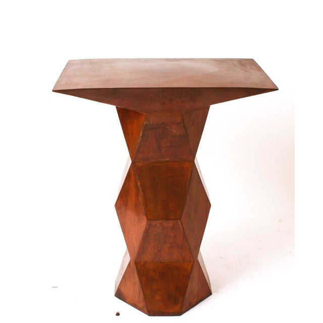 Custom Brutalist Geometric Console For Sale - Image 4 of 6