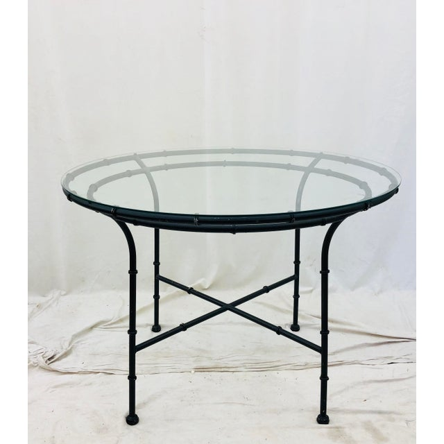 Vintage Faux Bamboo Style Table For Sale - Image 4 of 13