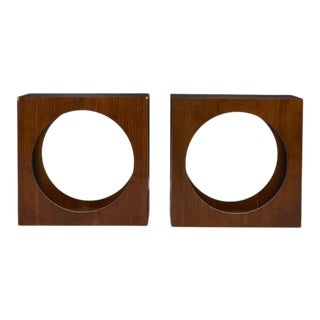 1970s Lane Mid-Century Modern Cube End Tables - a Pair For Sale