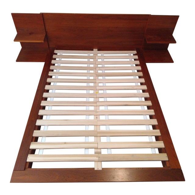 a31d92ea50551c CB2 Andes Acacia Queen Bed Frame | Chairish