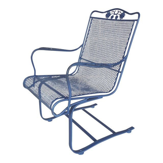 Vintage Woodard Briarwood High Back Spring Base Chair Model #1A052904 - Image 1 of 8