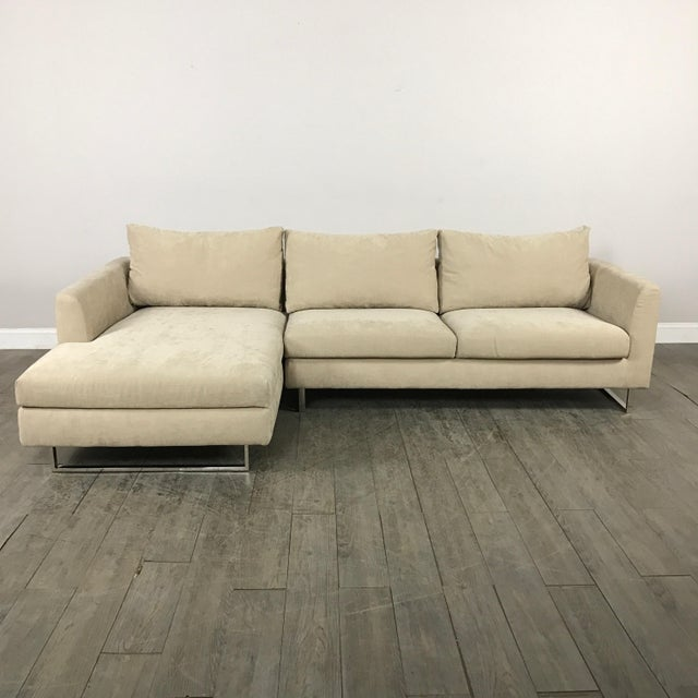 Modern Beige Sectional Sofa - Image 2 of 9
