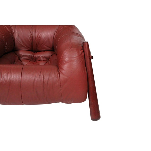 Brazilian Leather Lounge Chair by Percival Lafer For Sale - Image 9 of 13