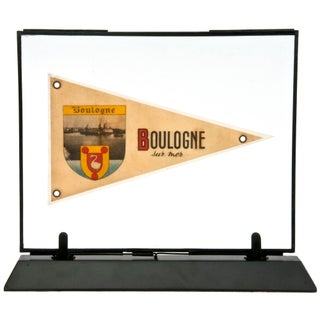 Framed Vintage French Boulogne Pennant For Sale