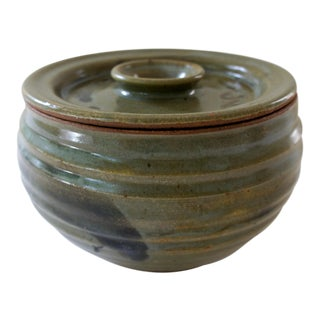 Vintage Mid-Century Modern Art Pottery Signed Casserole Pot For Sale