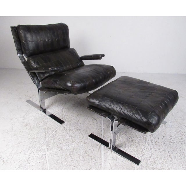 Lounge Chair and Ottoman Attributed to Richard Hersberger For Sale - Image 13 of 13