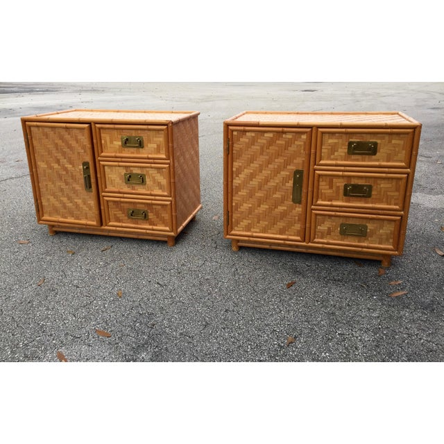Mid-Century Bamboo Nightstands - A Pair For Sale - Image 9 of 9