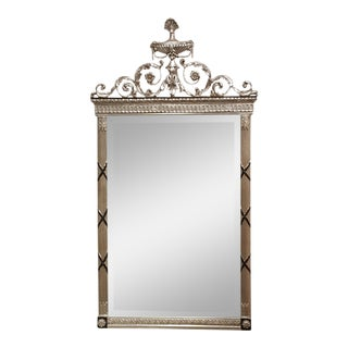 Freidman Brothers Silver Leaf and and Black Rectangular Mirror For Sale