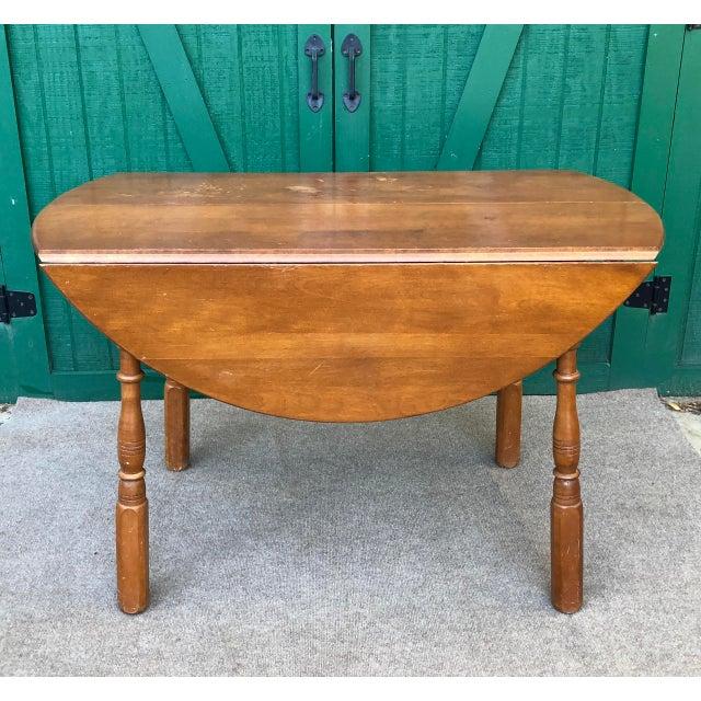 Vintage Sibley Lindsay & Curr Co. Drop Leaf Kitchen Table For Sale - Image 13 of 13