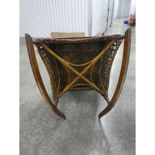 Victorian Heywood Wakefield Wicker Rocking Chair For Sale - Image 9 of 13