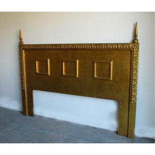 Neoclassical Gilt King Size Headboard, Circa 1960s Preview