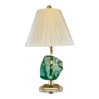 Boho Chic Glass Rock Lamp