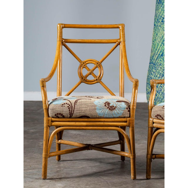1970s Vintage McGuire Bamboo Target Design Chairs - a Pair For Sale - Image 10 of 13