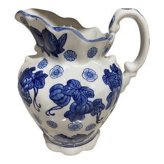 Export Blue and White Pitcher For Sale