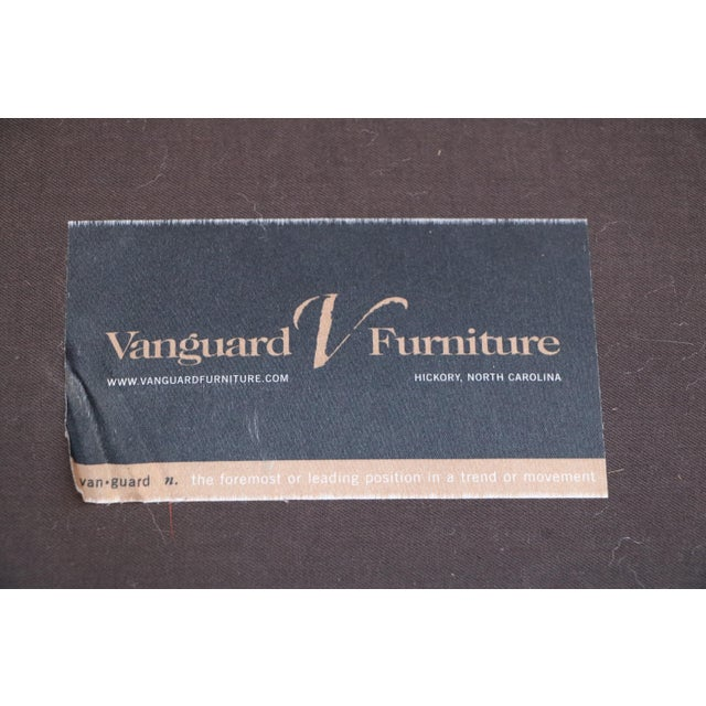 Vanguard Furniture Americana Brown Leather Sofa For Sale - Image 10 of 11