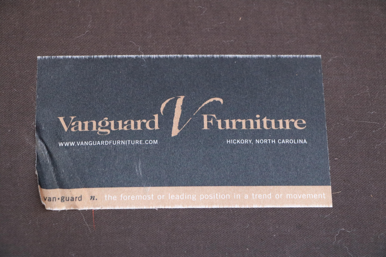 Vanguard Furniture Americana Brown Leather Sofa For Sale   Image 10 Of 11