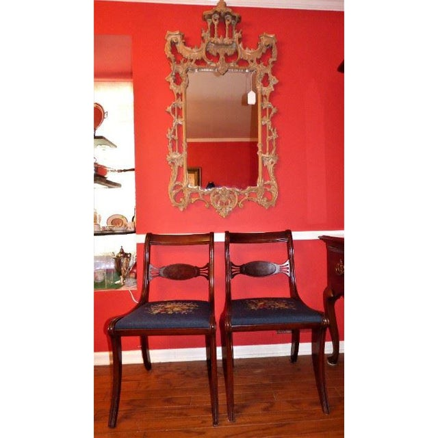 Thomas Chippendale Vintage Chinese Chippendale-Style Pagoda Mirror For Sale - Image 4 of 6