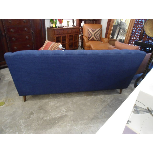 Dark Blue Tufted Cleveland Sofa by Thrive Furnitures For Sale - Image 4 of 6