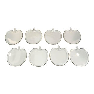 Glass Apple Shape Plates - Set of 8