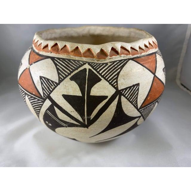 Southwestern Acoma Olla Polychrome Pottery For Sale - Image 4 of 11