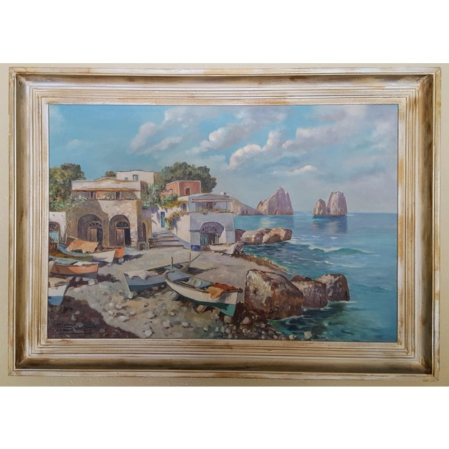 Guiseppe Salvati was born in Nalples in 1900 and died there in 1968 and painted numerous coastal and village scenes of...