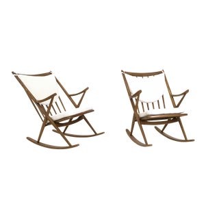 Pair of Rocking Chairs by Frank Reenskaug for Bramin, 1950s