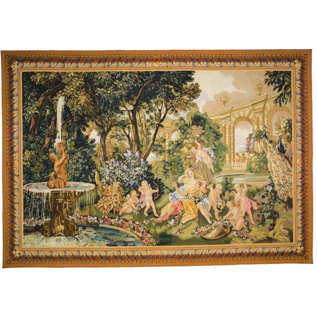 """Le Printemps From the Series """"Les Enfants Jardiniers"""" Tapestry For Sale In New York - Image 6 of 6"""