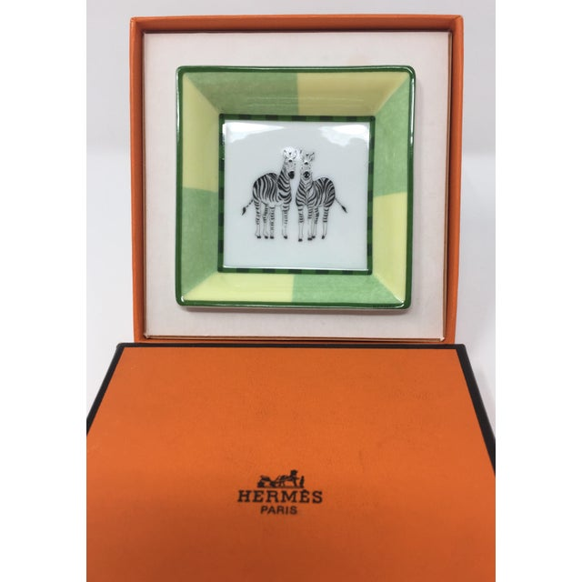 Late 20th Century Hermes Mini Zebra Tray For Sale - Image 5 of 6