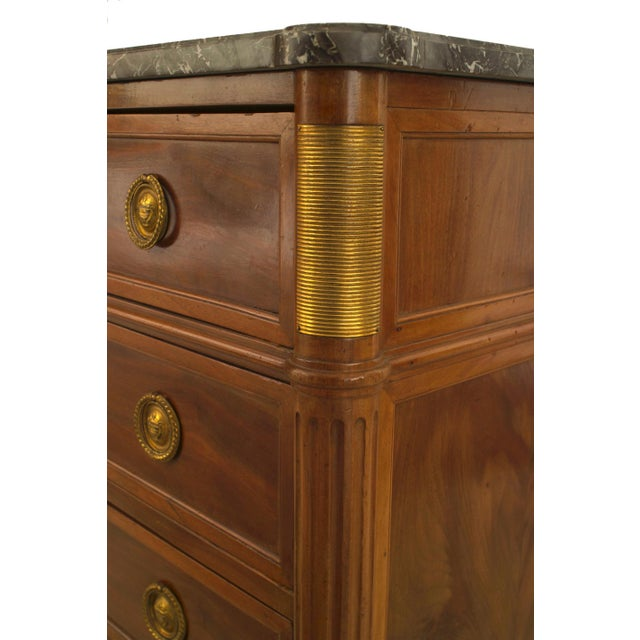 Louis XVI 1940s French Louis XVI Style Ormolu-Trimmed Mahogany Chest, by Jansen For Sale - Image 3 of 6