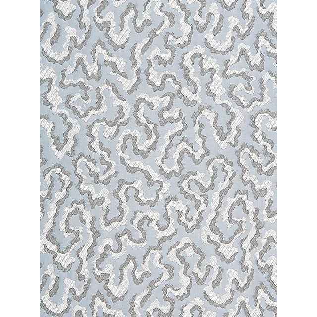 Transitional Sample, Scalamandre Vermicelli Weave, Glacier Fabric For Sale - Image 3 of 3
