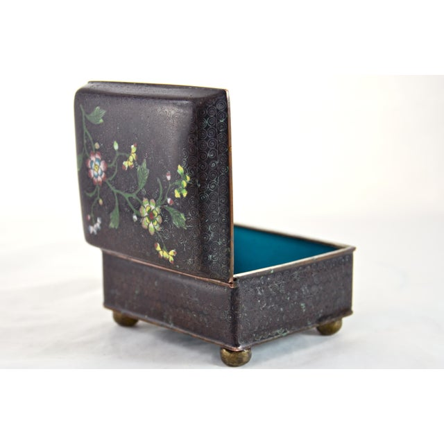 1920s Chinese Cloisonné Box For Sale - Image 5 of 6